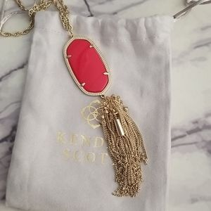 Kendra scott Rayne necklace with red stone